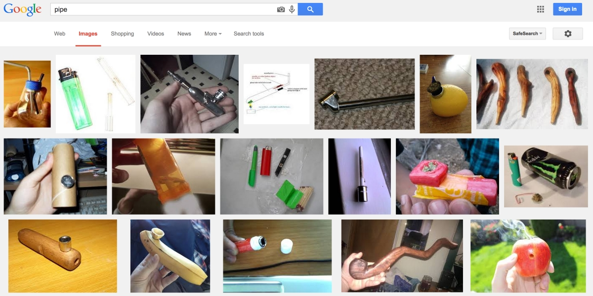 Here we see Google outperforming humans. I'd never have expected some of these to be pipes